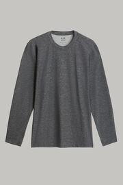 T-shirt in cotone nylon tencel maniche lunghe, , hi-res