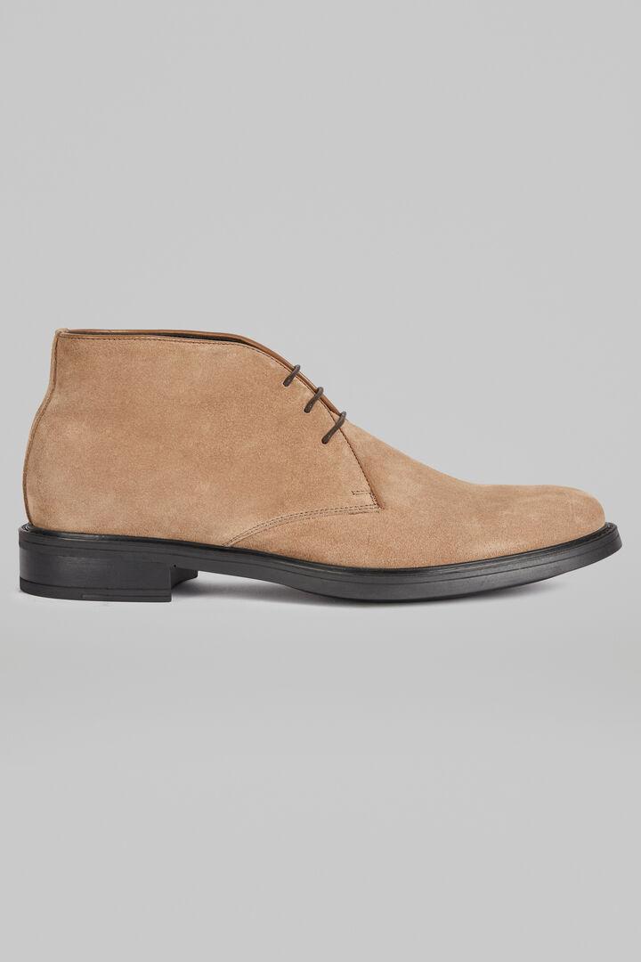 Chaussures À Lacet En Daim, Beige, hi-res