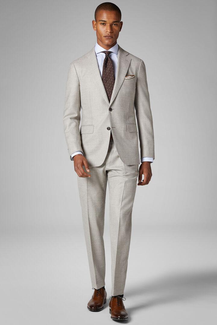 Natural Wool Napoli Suit, Natural, hi-res