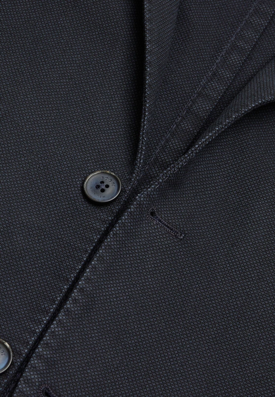 Marineblaue jacke aus gefärbter leinen-baumwolle, Navy blau, hi-res