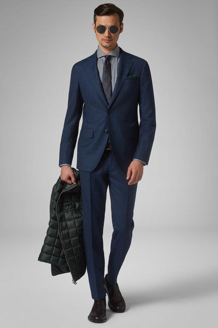 Costume Bleu Milano En Laine, Bleu, hi-res