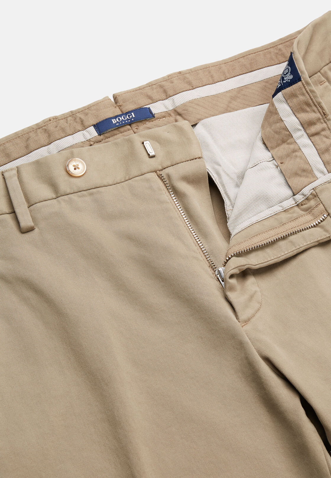 Hose aus elastischer baumwolle, Sahne, hi-res