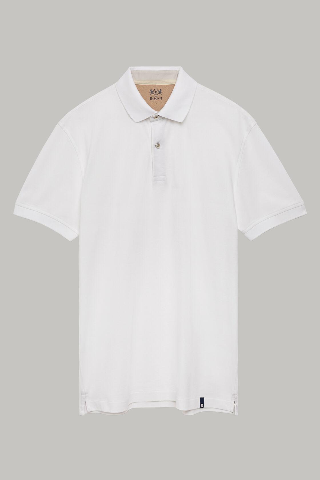 Polo in pique di cotone regular fit, Bianco, hi-res
