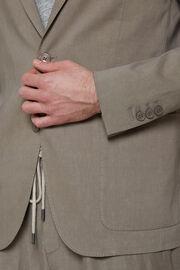 Taubengrause sakko aus elastischem leinen, Beige, hi-res