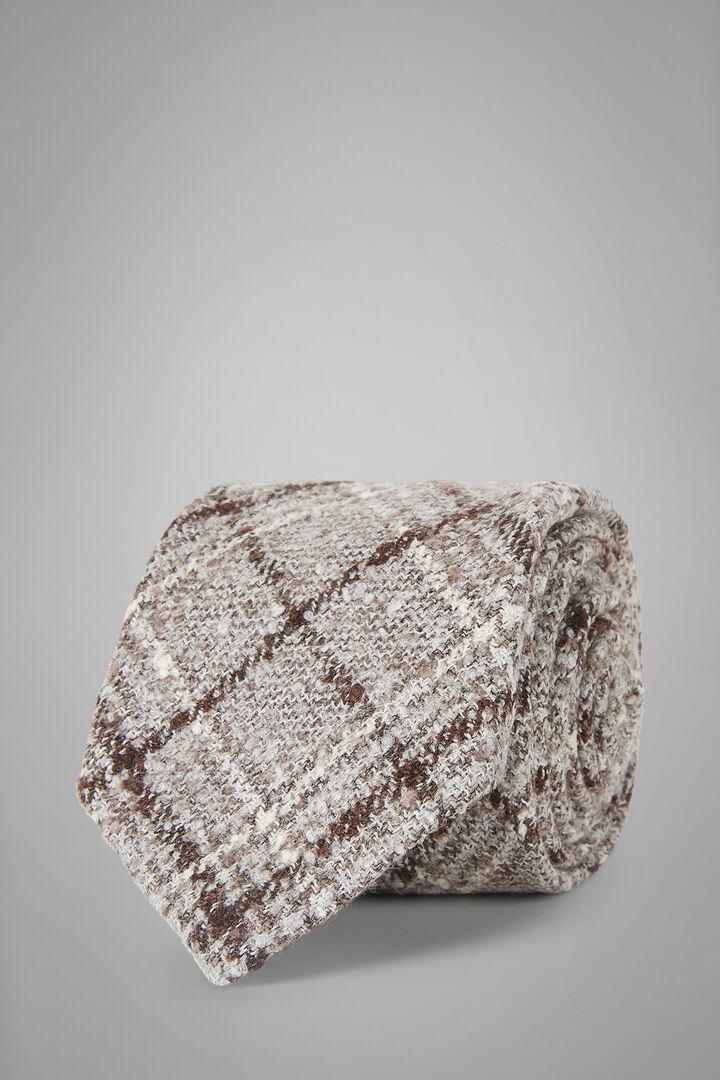 Krawatte Aus Babyalpakawolle Mit Prince-Of-Wales-Muster, Natürlich, hi-res