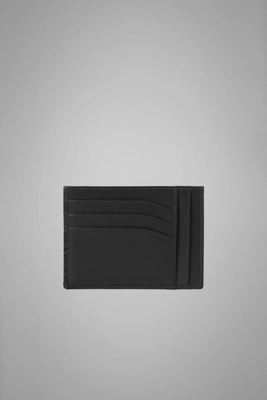 Grosse Kartenbörse Für Kreditkarten Aus Leder Mit Kokosnuss-Prägung, Schwarz, hi-res