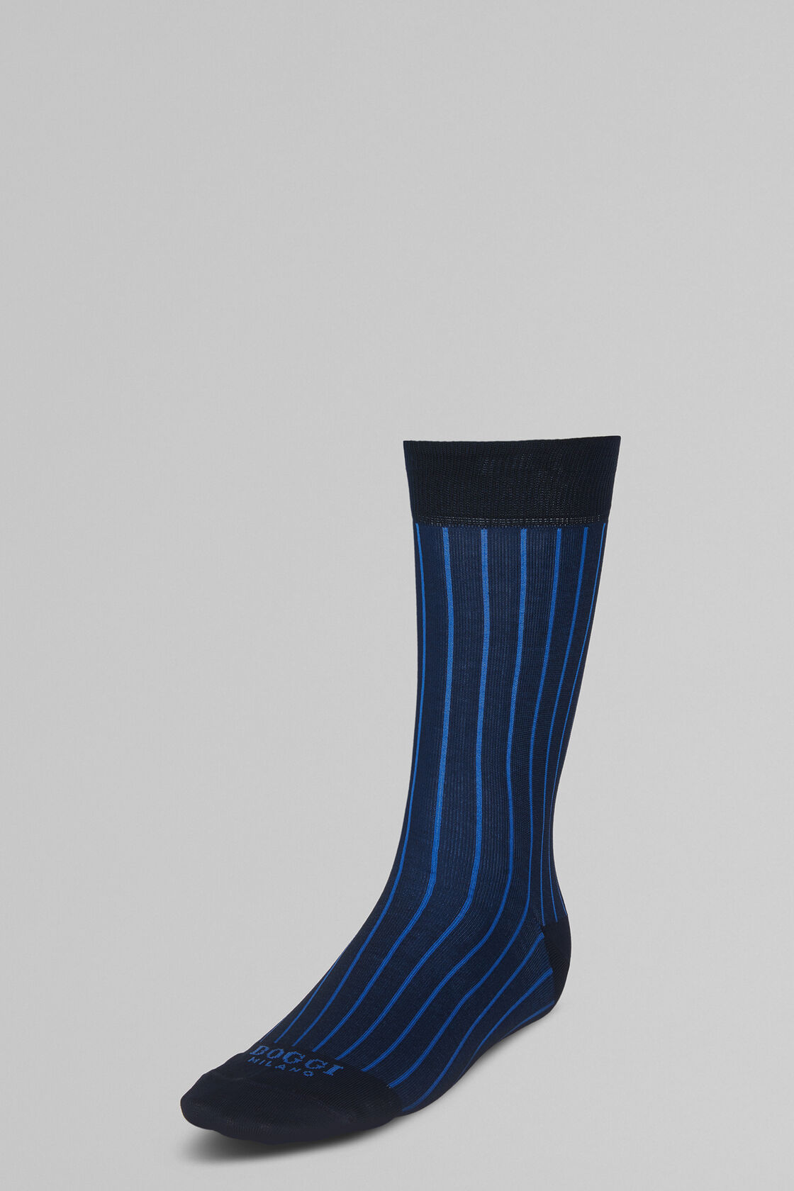 STRETCH COTTON SHORT SOCKS, BLUE - BLUETTE, hi-res