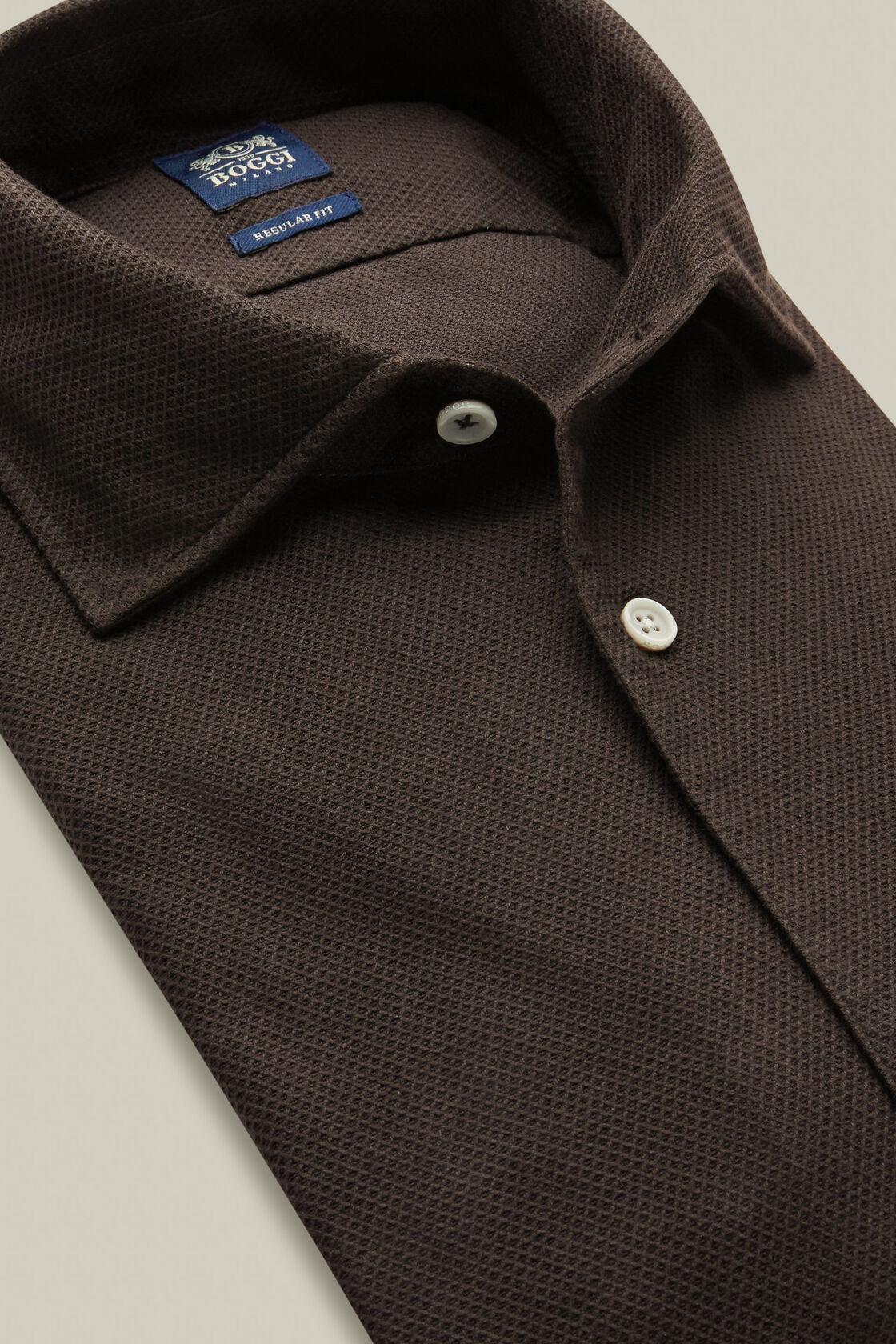 Anthrazitfarbenes mit bowling kragen hemd aus baumwolle regular fit, Holzkohle, hi-res