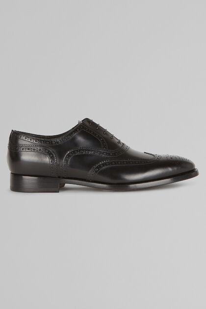 Chaussures Richelieu En Cuir Façonné, Noir, hi-res