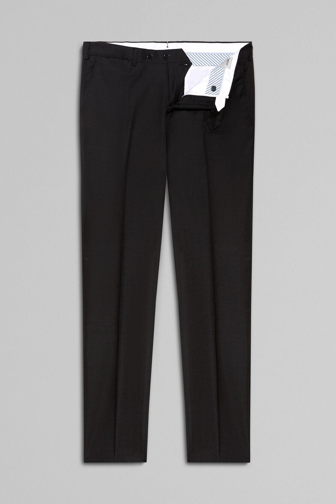 Pantaloni In Lana Super 130 Regular Fit, Antracite, hi-res