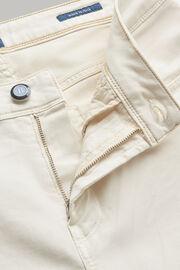 Jeans in cotone tencel elasticizzato beige, Bianco, hi-res