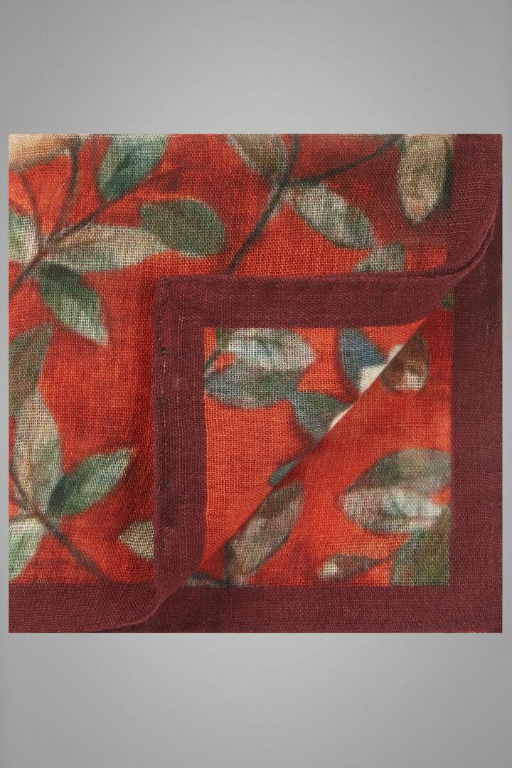 Pochette En Laine Imprimée À Motifs Floraux, Orange, hi-res