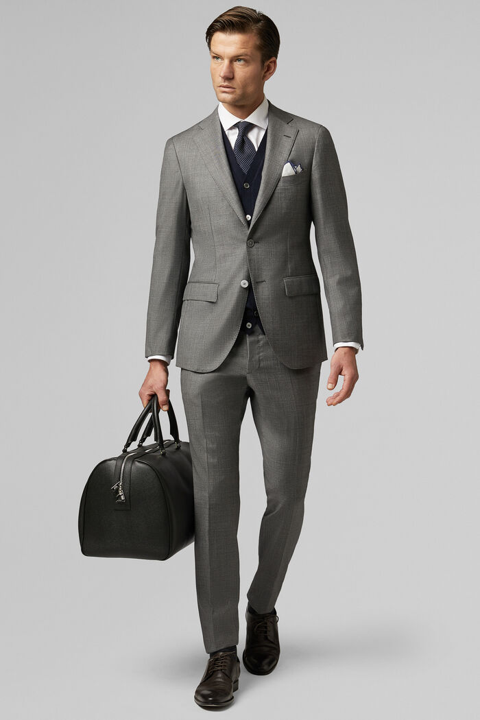 Grey Wool Milano Suit Jacket, , hi-res