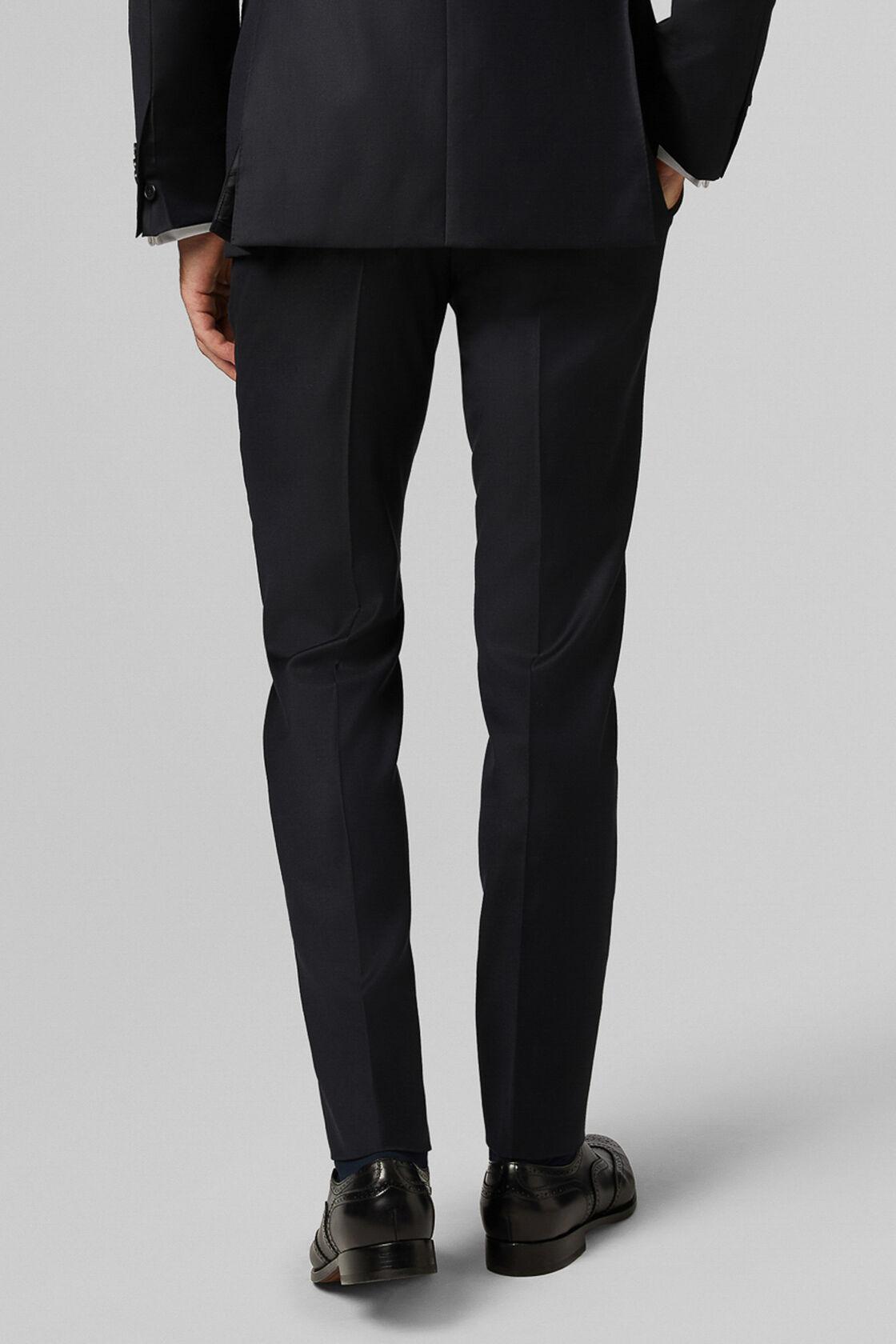 Super 130 wool 4 seasons trousers, Navy, hi-res