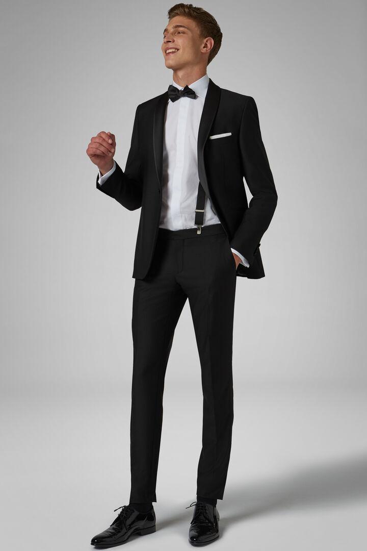 141c66e2239008 Black Hollywood Dinner Suit With Shawl Lapels, Black, hi-res