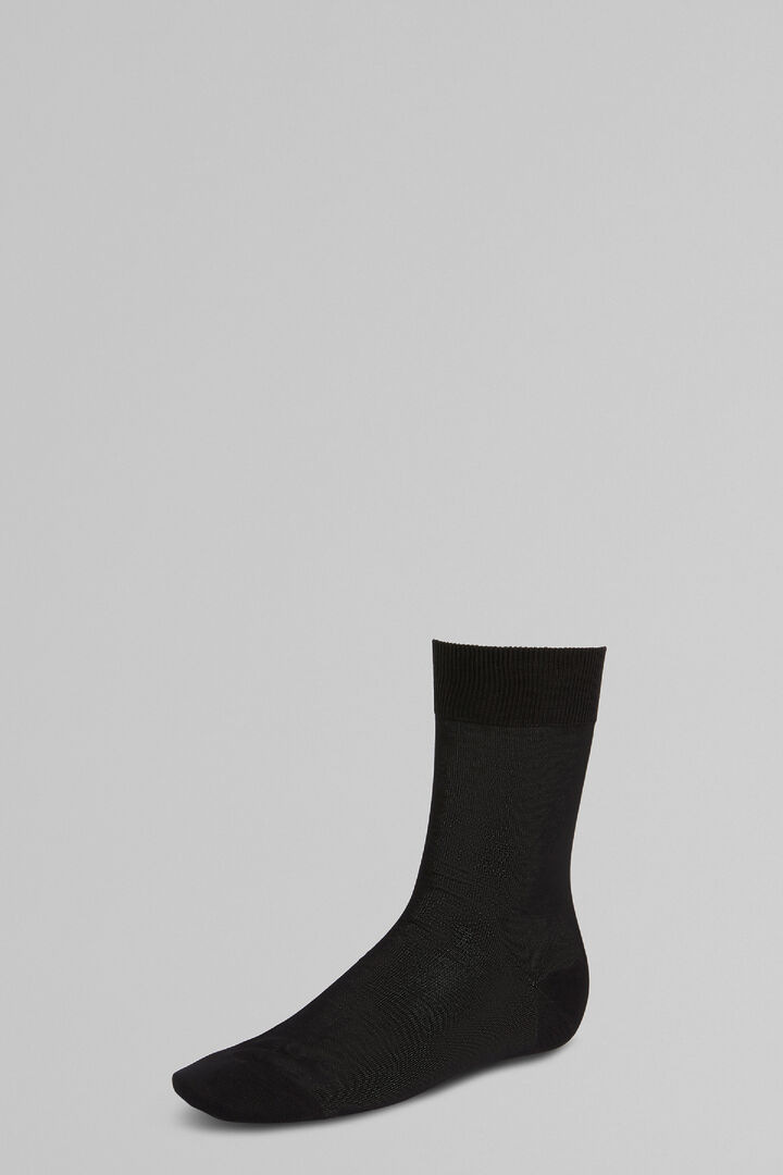 Short Socks, Black, hi-res