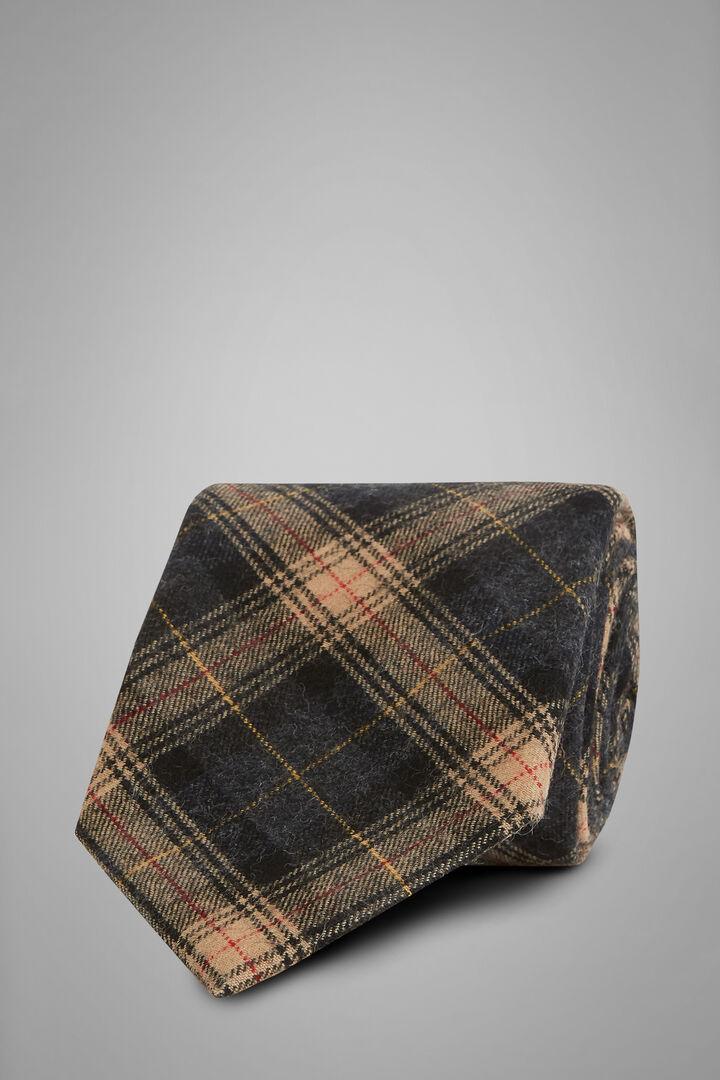 Cravatta Principe Di Galles In Lana, Grigio - Beige, hi-res