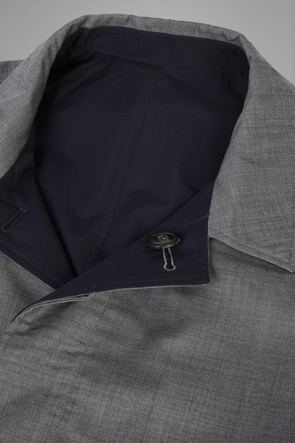 Wende-Regenmantel Aus Wolle, Grau Blau, hi-res
