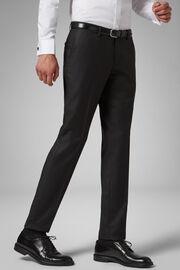 Pantalone Da Abito Antracite In Lana Regular, Antracite, hi-res