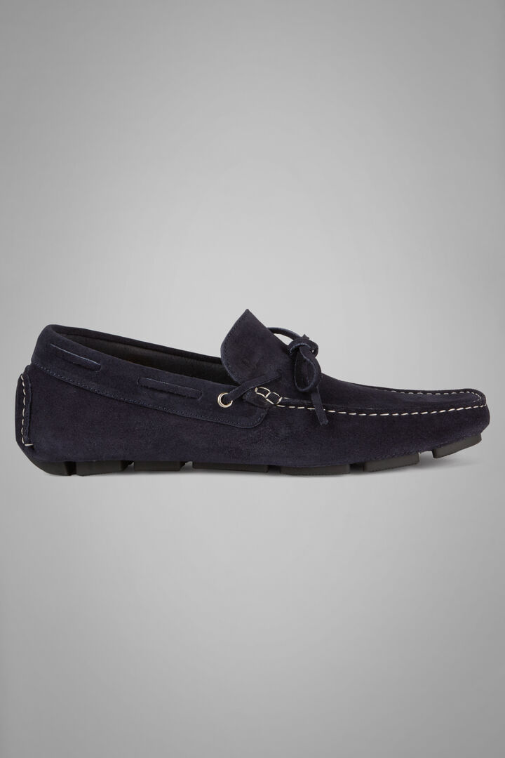 Suede Loafers, Navy blue, hi-res
