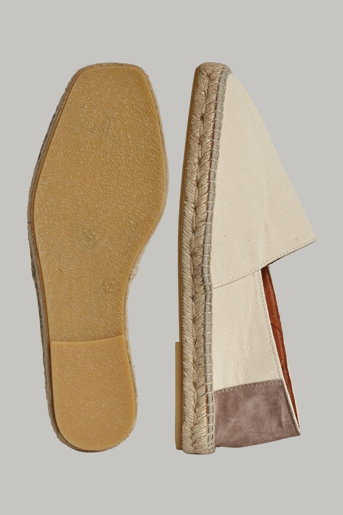 Espadrilles aus canvas und veloursleder, Beige, hi-res