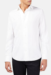 Polohemd aus japanischem jersey regular fit, Weiß, hi-res
