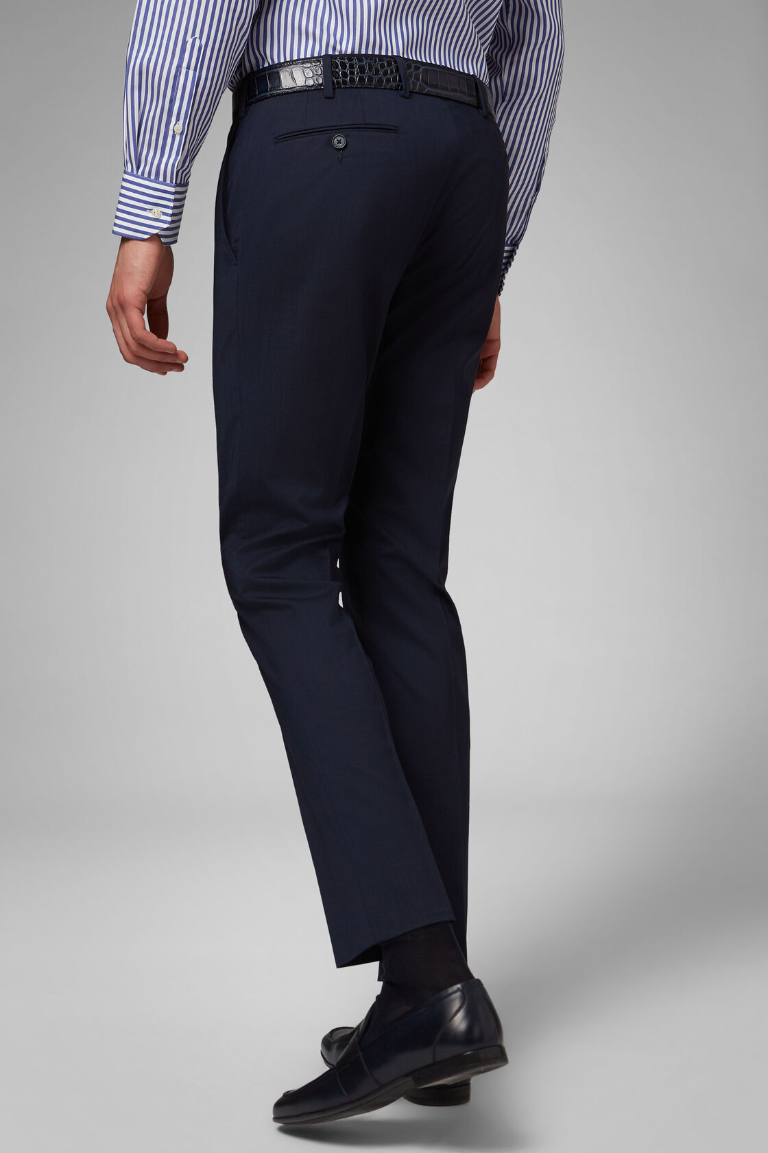 Pantalone In Lana Stretch Slim, , hi-res