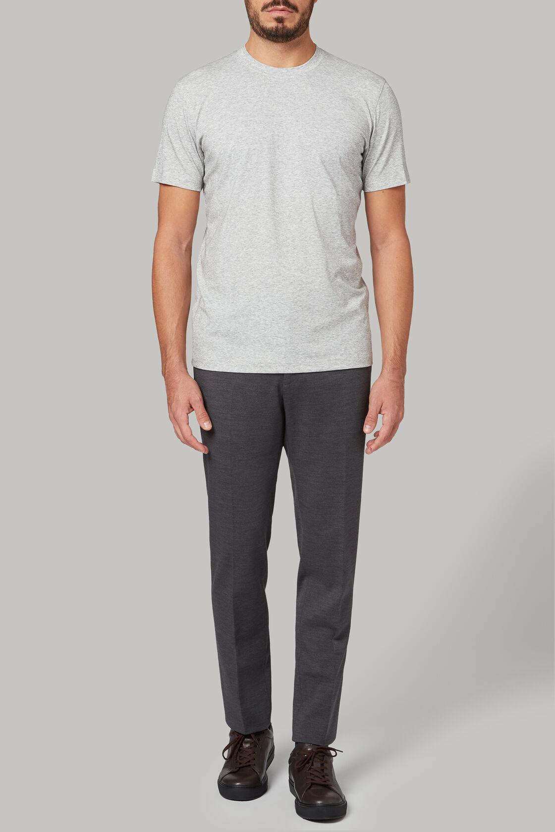 T-shirt aus baumwolljersey und nylon-tencel, Hellgrau, hi-res