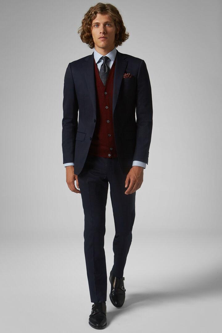 Blue Stretch Wool Anversa Suit, Blue, hi-res