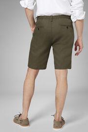 Plain Linen Bermuda Shorts With Drawcord, , hi-res