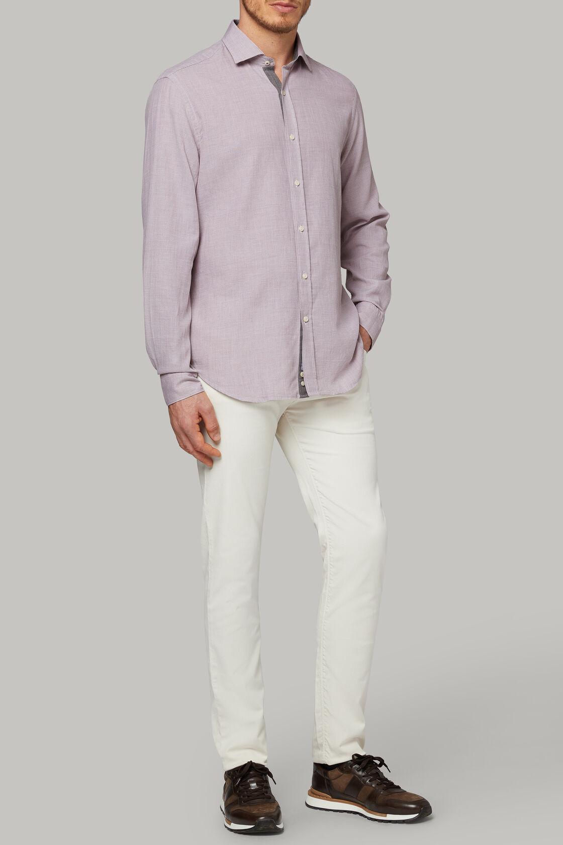 Braunes hemd mit geschlossenem kragen aus baumwolle regular fit, , hi-res