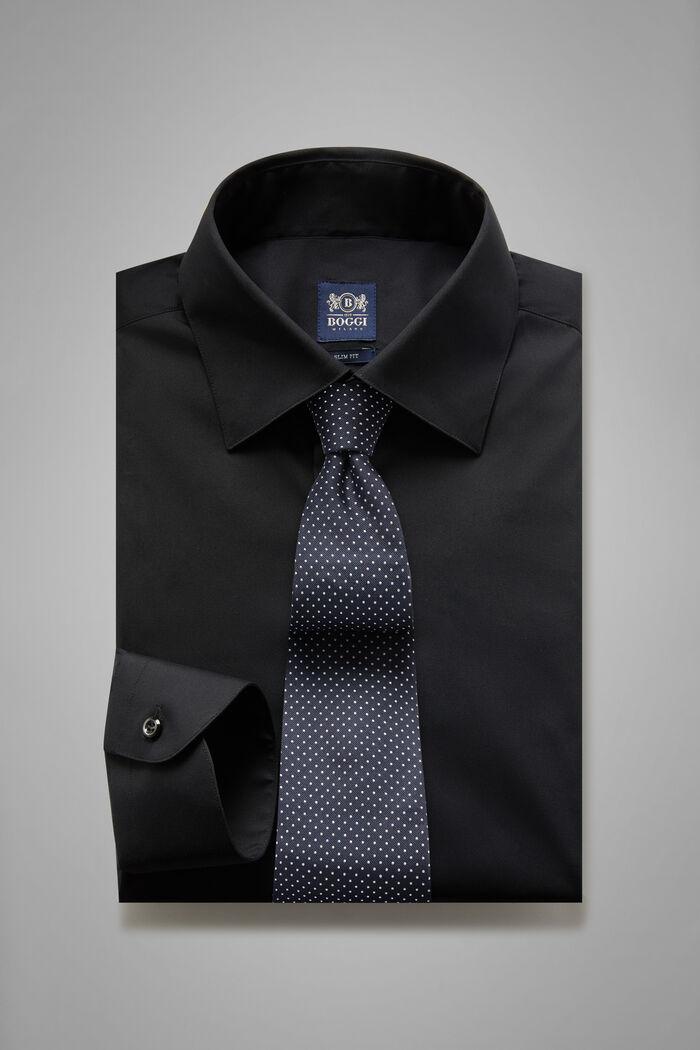 Camicia Nera Collo New York Slim Fit, , hi-res