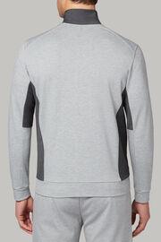 Sweatshrt mit durchgehendem reissverschluss aus interlock und wolle waschbar, Grau, hi-res