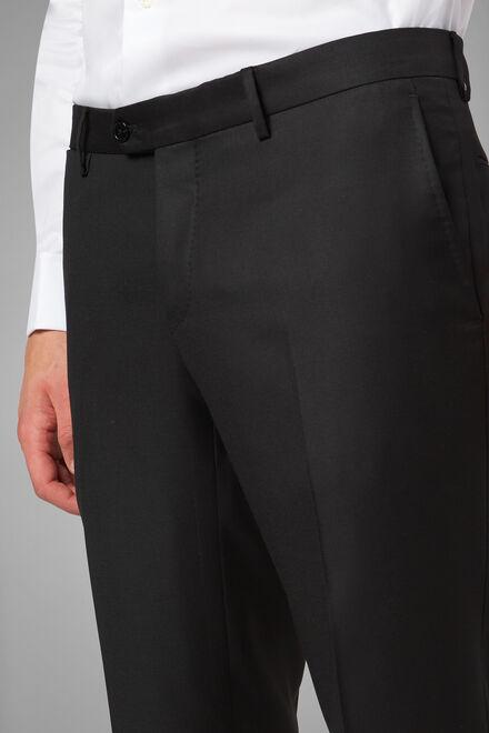 Hose aus super 130 wolle regular fit, Holzkohle, hi-res