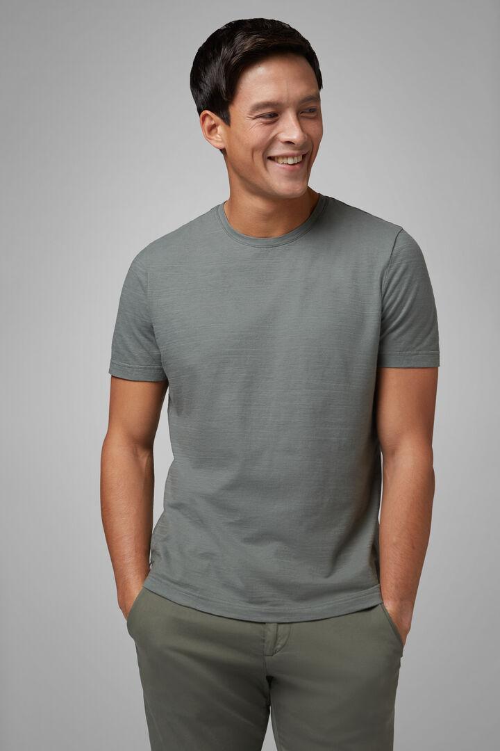 T-Shirt Verde Militare In Jersey Di Cotone, Militare, hi-res