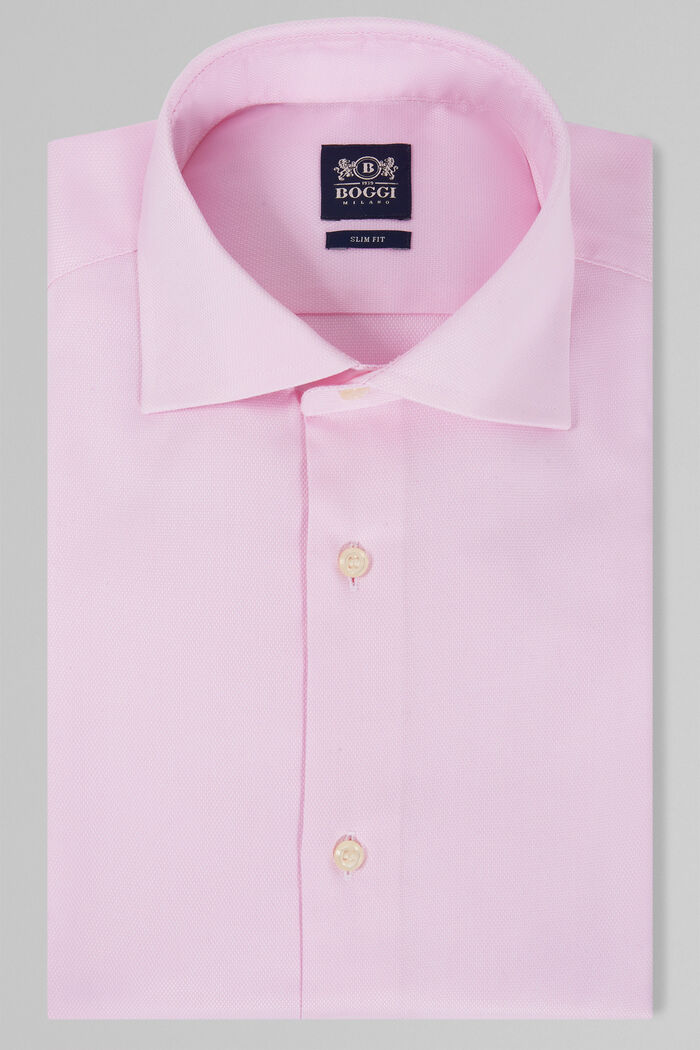 CHEMISE ROSE À COL WINDSOR COUPE SLIM, , hi-res