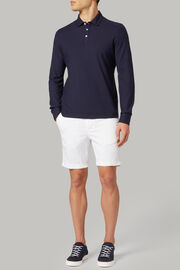 Polo aus baumwolljersey regular fit, Navy blau, hi-res