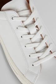 Baskets En Cuir Blanc, blanc, hi-res
