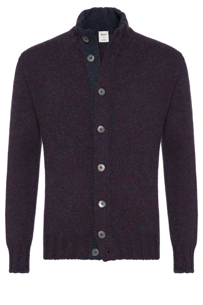 MOULINÉ WOOL CARDIGAN CLASSIC FIT - MADE IN ITALY, , medium