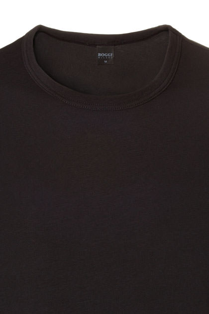T-SHIRT ALGODÓN STRETCH, Nero, medium