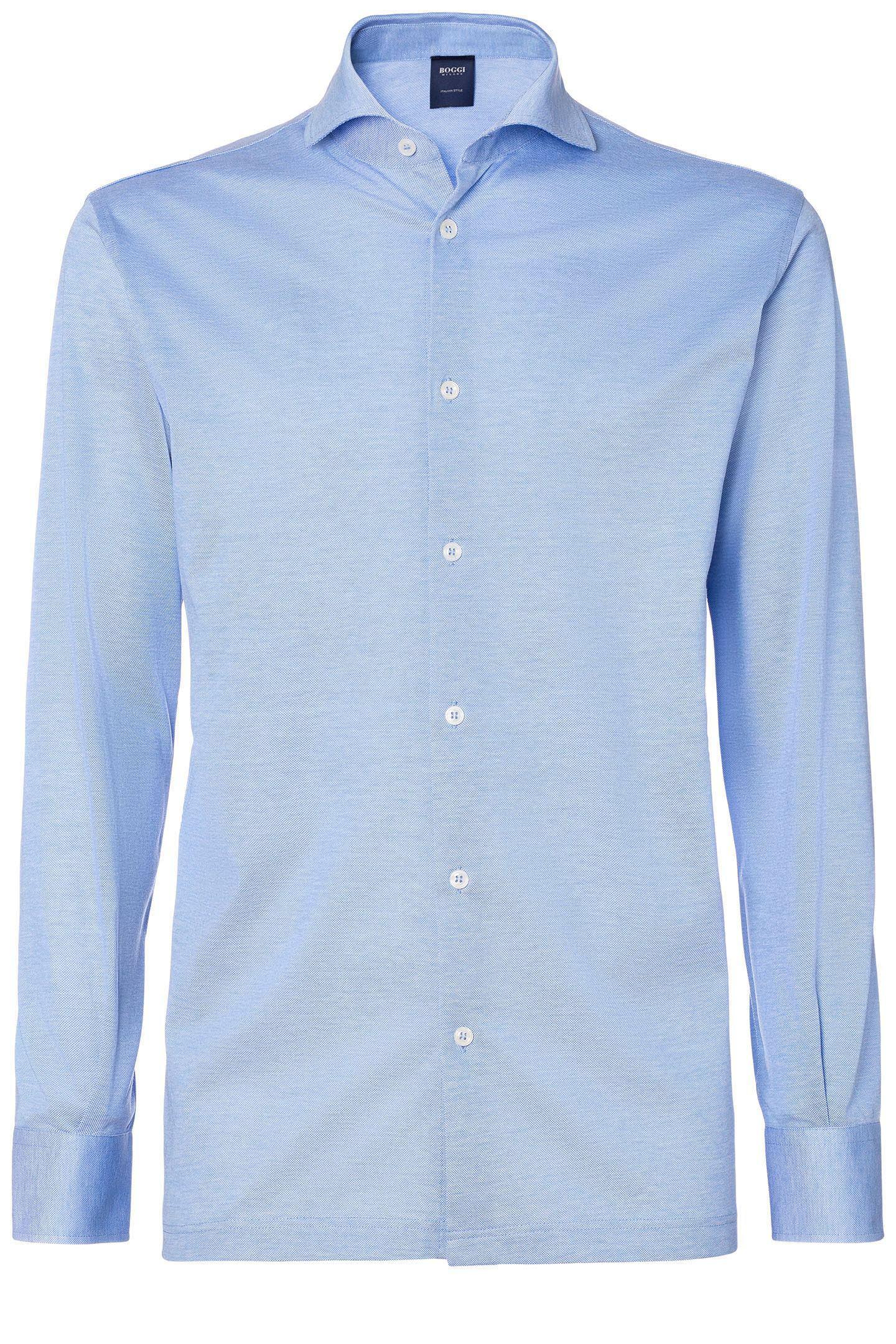 Scottish Yarn Cotton Piqu Polo Shirt Classic Fit Boggi