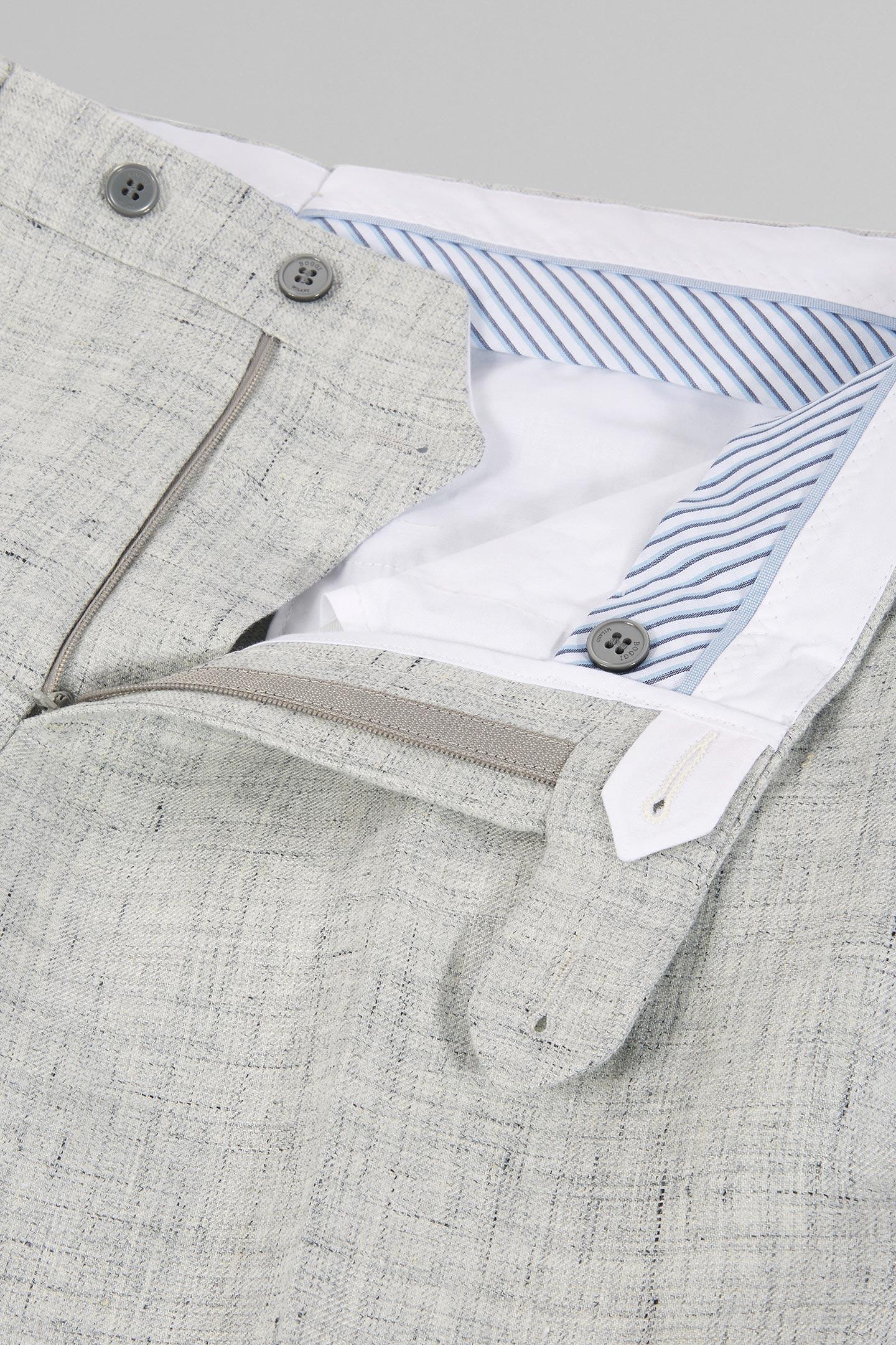 Couleur Lin Et Gris costume gris clair mantoue en pur lin | boggi