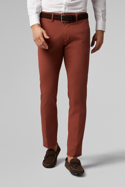 PANTALONE IN COTONE CANNETÈ STRETCH SLIM FIT , , medium