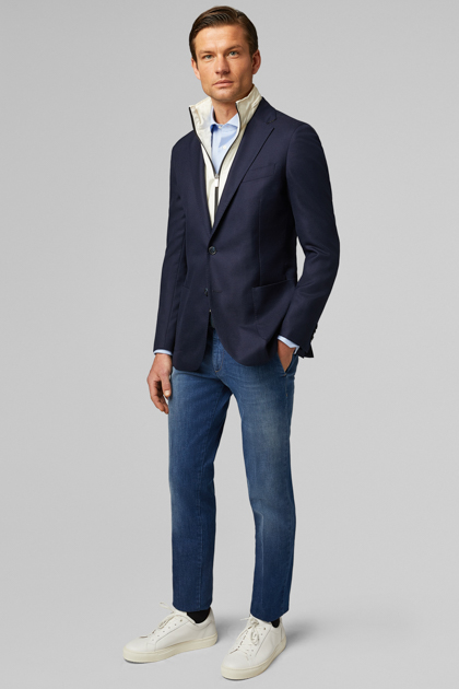BLUE PURE WOOL AMSTERDAM BLAZER, BLUE, medium