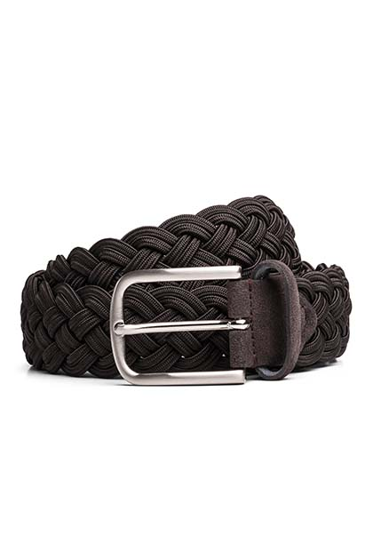STRETCH WOVEN BELT, Moro, medium