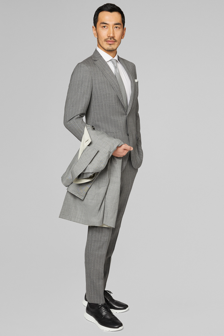GREY PURE WOOL MANTOVA SUIT, GREY, large