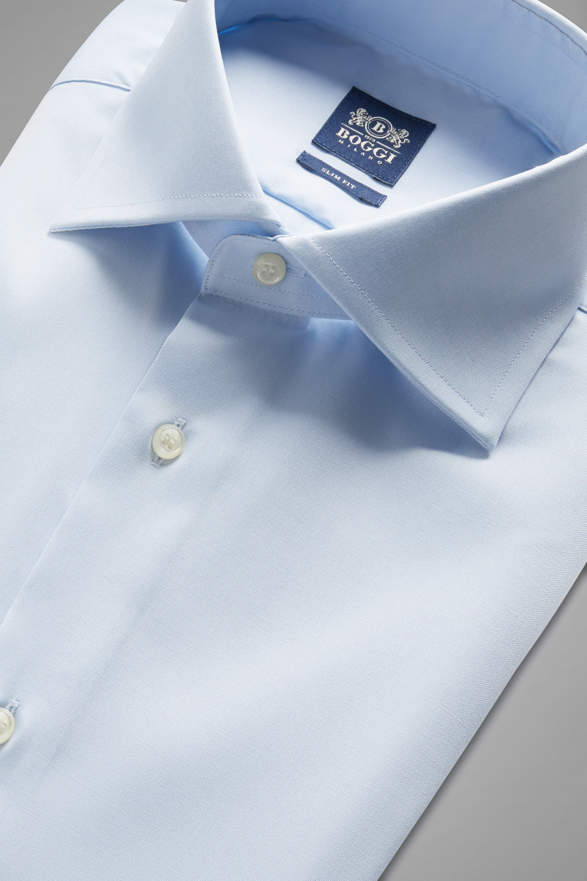Two ply windsor collar pin point cotton shirt boggi for 2 ply cotton shirts