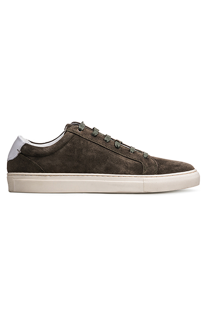 SUEDE TRAINERS, Green, medium