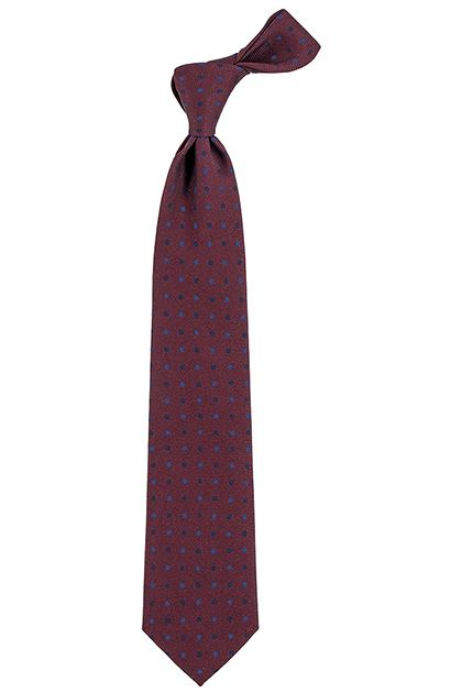 MADDER SILK POLKA DOT TIE - MADE IN ITALY, Burgundy, medium