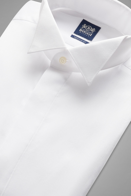 nuovo concetto b8fce cd3f0 Camicia Bianca Collo Diplomatico Regular Fit   Boggi